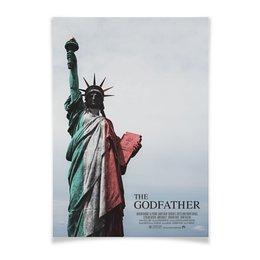 """Плакат A3(29.7x42) """"Статуя Свободы"""" - godfather, аль пачино, статуя свободы, фрэнсис форд коппола, крёстныйотец"""