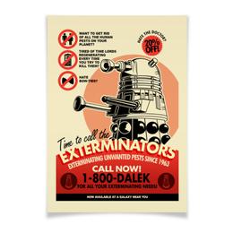 "Плакат A3(29.7x42) ""Далек"" - dalek, doctor who, доктор кто, далек, time lord"