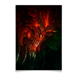 """Плакат A3(29.7x42) """"Diablo III"""" - blizzard, диабло, близзард"""