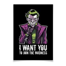 "Плакат A3(29.7x42) ""Джокер"" - joker, комиксы, джокер, бэтмен, отряд самоубийц"