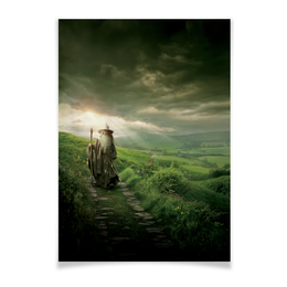 "Плакат A3(29.7x42) ""Гэндальф"" - кино, властелин колец, хоббит, hobbit, фродо"