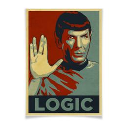 "Плакат A3(29.7x42) ""Спок "" - поп-арт, star trek, спок, spock, звёздный путь"