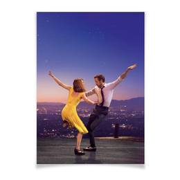 """Плакат A3(29.7x42) """"Ла Ла Ленд"""" - мечта, оскар, райан гослинг, la la land, эмма стоун"""