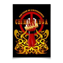 "Плакат A3(29.7x42) ""Дэдпул (Deadpool)"" - комиксы, марвел, дэдпул, chimichanga, чимичанга"