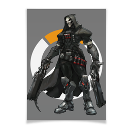 "Плакат A3(29.7x42) ""Overwatch Reaper / Жнец Овервотч"" - игры, overwatch, reaper, жнец, овервотч"