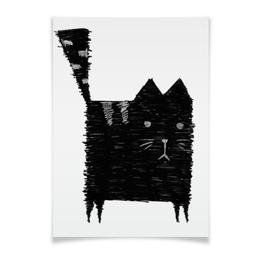 """Плакат A3(29.7x42) """"Кот Малевича"""" - кот, кошка, арт, животные, графика"""