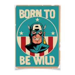 "Плакат A3(29.7x42) ""Born To Be Wild"" - usa, marvel, марвел, капитан америка, captain america"