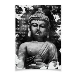 """Плакат A3(29.7x42) """"Будда (Письмена)"""" - философия, религия, buddha, будда, духовность"""