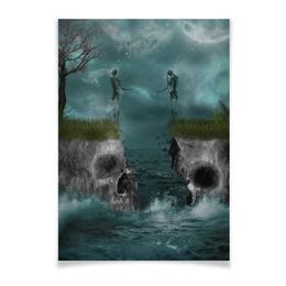 "Плакат A3(29.7x42) ""Dark Art"" - skull, череп, любовь, skeleton, скелет"