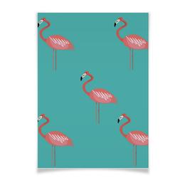 """Плакат A3(29.7x42) """"Фламинго"""" - животные, фламинго, flamingo"""