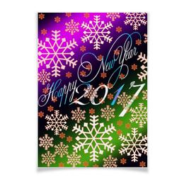 """Плакат A3(29.7x42) """"Снежинки снега"""" - праздник, новый год, снег, снежинки, 2017"""