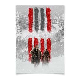 """Плакат A3(29.7x42) """"Восьмерка - Вешатель и Пленница"""" - кровь, tarantino, тарантино, омерзительная восьмерка, hateful eight"""