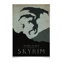 "Плакат A3(29.7x42) ""Skyrim"" - арт, дракон, skyrim, скайрим"