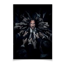 "Плакат A3(29.7x42) ""Джон Уик"" - актер, боевик, убийца, киану ривз, john wick"
