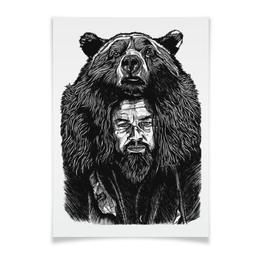 "Плакат A3(29.7x42) ""The Revenant / Выживший"" - арт, медведь, фильмы, выживший, the revenant"
