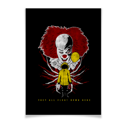 """Плакат A3(29.7x42) """"Оно. Пеннивайз"""" - it, клоун, оно, pennywise, пеннивайз"""