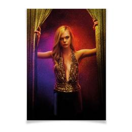"""Плакат A3(29.7x42) """"Неоновый демон"""" - девушка, кино, мечта, модель, эль фаннинг"""