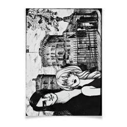 "Плакат A3(29.7x42) ""Замок"" - девушка, рисунок, мужчина, иллюстрация"