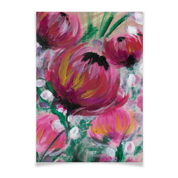 """Плакат A3(29.7x42) """"Полевые цветы"""" - лето, цветы, весна, розовый, подарок"""