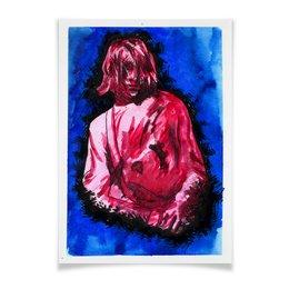 "Плакат A3(29.7x42) ""Kurt Cobain"" - гранж, nirvana, kurt cobain, курт кобейн"