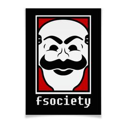 """Плакат A3(29.7x42) """"Мистер Робот. Fsociety"""" - сериалы, хакер, мистер робот, fsociety, mr robot"""