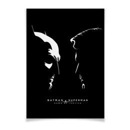 """Плакат A3(29.7x42) """"Batman vs Superman"""" - комиксы, бэтмен, супермэн, dc comics"""