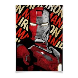 """Плакат A3(29.7x42) """"Железный человек"""" - комиксы, марвел, iron man, тони старк"""