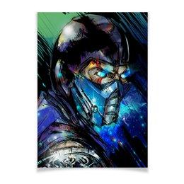 "Плакат A3(29.7x42) ""Mortal Kombat X (Sub-Zero)"" - космос, воин, боец, mortal kombat, sub-zero"