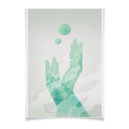 "Плакат A3(29.7x42) ""абстракция руки"" - арт, графика, рисунок, акварель, фон"