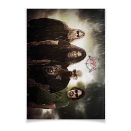 "Плакат A3(29.7x42) ""Slayer 2012"" - музыка, плакат, металл, slayer, thrash metal"