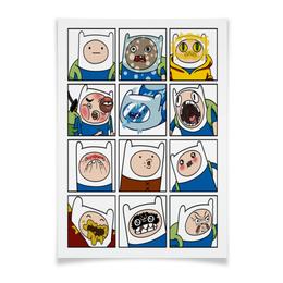"Плакат A3(29.7x42) ""Финн. Время Приключений"" - adventure time, время приключений, finn and jake, финн, финн и джейк"