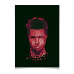 "Плакат A3(29.7x42) ""Тайлер Дёрден"" - бойцовский клуб, брэд питт, fight club, чак паланик"