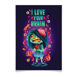 """Плакат A3(29.7x42) """"Милашка зомби"""" - любовь, арт, zombie, зомби, девочка"""