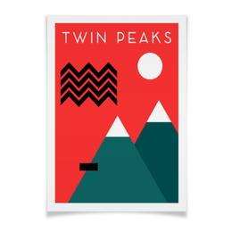 "Плакат A3(29.7x42) ""Твин Пикс"" - twin peaks, лора палмер, твин пикс, дэвид линч, агент купер"