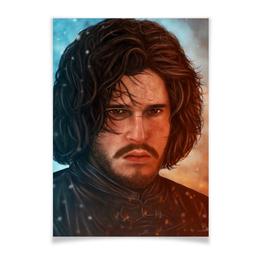 """Плакат A3(29.7x42) """"Игра Престолов: Джон Сноу"""" - игра престолов, фэн-арт, game of thrones, jon snow, джон сноу"""