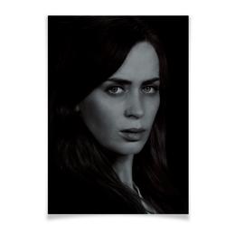 """Плакат A3(29.7x42) """"Девушка в поезде"""" - любовь, girl, поезд, кино, эмили блант"""