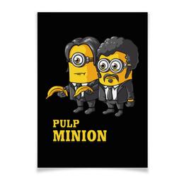 "Плакат A3(29.7x42) ""Pulp Minion"" - миньоны, криминальное чтиво, миньон, minion, pulp fiction"