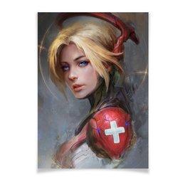 "Плакат A3(29.7x42) ""Mercy"" - ангел, blizzard, близзард, overwatch, овервотч"