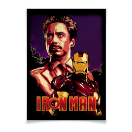 """Плакат A3(29.7x42) """"Iron Man/Железный человек"""" - фантастика, marvel, железный человек, iron man, ironman"""