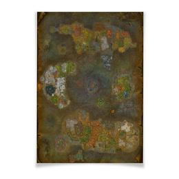 "Плакат A3(29.7x42) ""World of Warcraft World map/Варкрафт картв"" - арт, карта, warcraft, world of warcraft, варкрафт"