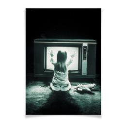 """Плакат A3(29.7x42) """"Полтергейст"""" - страх, кино, призрак, ужасы, привидение"""