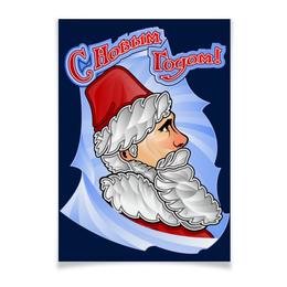 """Плакат A3(29.7x42) """"С новым годом!"""" - новый год, россия, дед мороз, путин, санта клаус"""