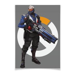 """Плакат A3(29.7x42) """"Overwatch Soldier 76 / Овервотч Солдат 76"""" - игры, overwatch, овервотч, солдат 76, soldier 76"""