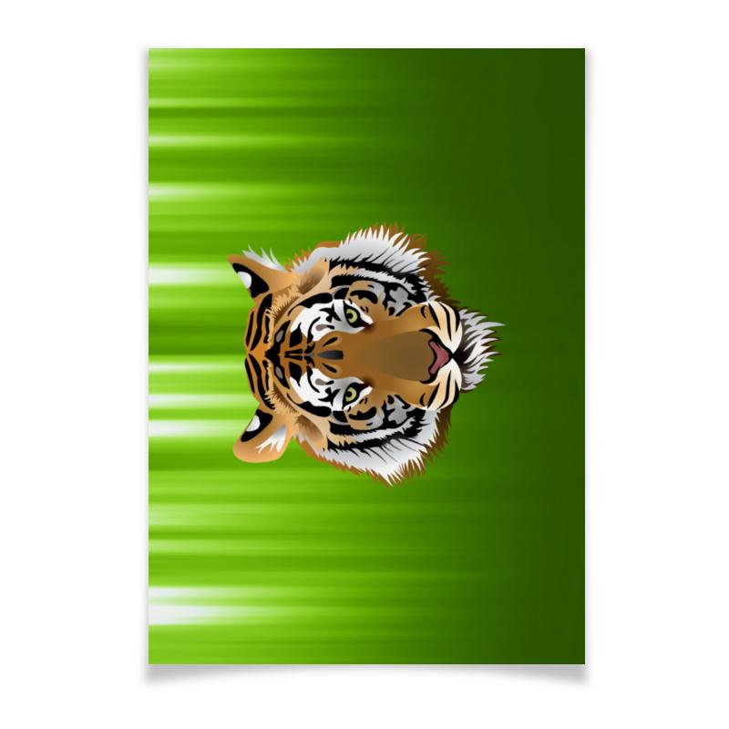 Плакат A2(42x59) Printio Взгляд тигра плакат a2 42x59 printio противостояние