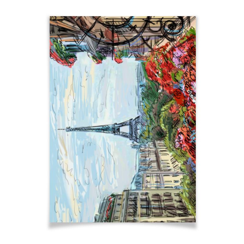 Плакат A2(42x59) Printio Эйфелева башня макет эйфелевой башни спб