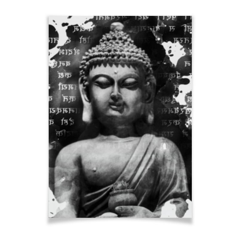 Плакат A2(42x59) Printio Будда (письмена) коробка для футболок printio будда письмена