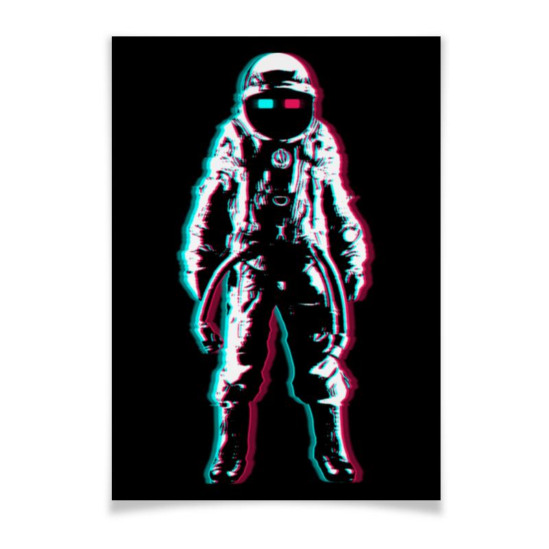 Плакат A2(42x59) Printio Космонавт 3d цены онлайн
