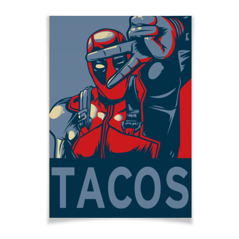 Плакат A2(42x59) Printio Tacos плакат a2 42x59 printio силузт