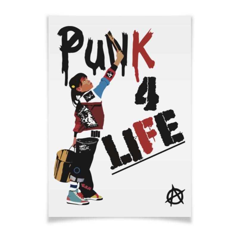 Плакат A2(42x59) Printio Punk 4 life плакат a2 42x59 printio противостояние