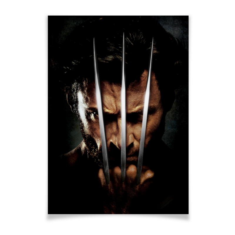 Плакат A2(42x59) Printio Росомаха плакат a2 42x59 printio силузт